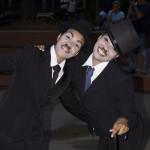 Perfomance do Chaplin, personagem do cinema mudo